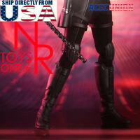 """1/6 Combat Boots For Avengers Black Widow 12"""" Hot Toys PHICEN Female Figure"""