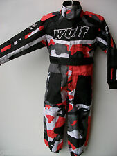 New Age 3-4 Red Camo Wulfsport Kids Off Road Outdoor Play Suit Quad Overalls Cr
