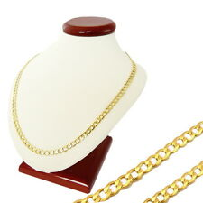 """MEN'S CURB CHAIN CUBAN LINK 14k YELLOW GOLD 585 14ct ~20inch 20"""" 50cm wide 3,0mm"""