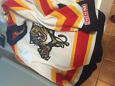 Florida Panthers NHL CCM  white  sewn jersey boys S/M Small Medium