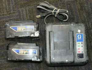 Graco 16D559 18V Battery charger and 2 18V Batteries