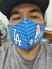 Blue LOS ANGELES DODGERS Face Mask Custom Sublimated Nice Soft Jersey Material