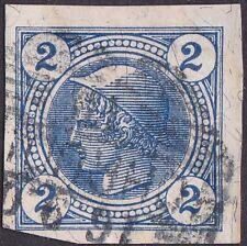 Austria - 1901 - 2 Heller Dark Blue Mercury Newspaper Stamp # P11a w/ 4 Margins