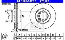 ATE Juego de 2 discos freno Antes 239mm ventilado para SEAT RENAULT