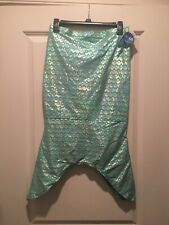 NWT Wave Zone Girls Mermaid Skirt XL 14/16 Silver/Teal