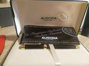 AURORA Fountain Pen Füller 14Kt GOLD LANCIA Edition ; Size: M