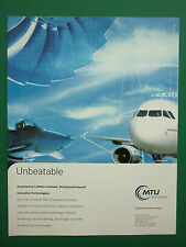 12/2000 PUB MTU AERO ENGINES MUNCHEN AIRBUS TYPHOON MAINTENANCE GERMAN AD
