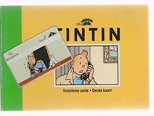 Tintin. Troisième carte Belgacom 1996. Carte téléphonique Oreille Cassée