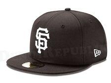 New Era 5950 SAN FRANCISCO GIANTS Black & White Hat MLB Baseball Mens Fitted Cap