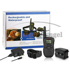 NEW Rechargeable LCD 100LV Level Shock Vibra Remote Pet Dog Training Collar