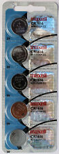 5PC MAXELL CR1616 1616 Coin Cell Battery - Ships from Canada