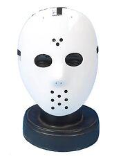 White Hockey Mask Jason Style Friday 13th Halloween Mike Myers P7017
