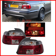 For 95-05 BMW E39 5-SERIES 528I 540I M5 LED RED CLEAR Taillights EURO Style
