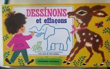 Jeu Dessinons et effaçons, 1970, Fernand Nathan - Cavahel Vintage