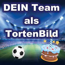 Fussball Eßbarer Tortenaufleger Party Deko Tortenbild Shirt neu Geburtstag Logo