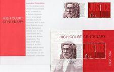 AUSTRALIA 2003-CENTENARY HIGH COURT 1903-2003 MINISHEET AND FDC  MUH