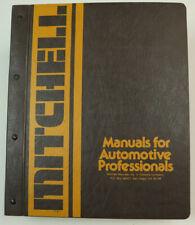Vintage 1978 Mitchell Imported Cars Trucks Interchange Service Manual