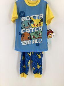 Pokémon Pajamas 2 Piece Size S Pikachu Gotta Catch Em Short Sleeve Long Pants