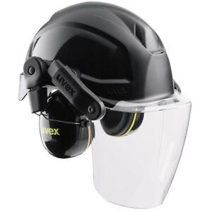 Uvex 3-teiliges Helmsystem bestehend aus Schutzhelm Visier und Gehörschutz