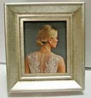 "Silver Leaf Textured Picture Photo Frame 2.5X3""   NEW"