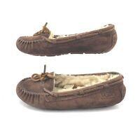 UGG Bella II Shearling Moccasins Casual Loafers 3050 Suede Leather Brown Women 6