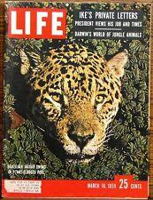 LIFE Magazine March 16, 1959 Brazilian Jaguar Darwin's World of Jungle Animals