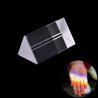 5cm Triangular Prism Teaching Optical Glass Triple Physics Light Spectrum DSUK
