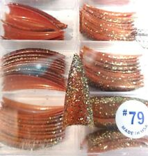 USA Tip Jar BROWN W/ BRONZE GLITTER STILETTO POINTED Acrylic False Nail TIPS #79