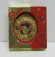 1995 ELVIS AMERICAN GREETINGS ORNAMENT / NEVER USED BUT GOOD CONDITION / 18K PL