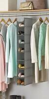 Hanging Closet Organizer Shoe Storage Rack Hanger Space Saver Shelves Wardrobe