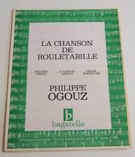 Partition vintage sheet music PHILIPPE OGOUZ : Chanson de Rouletabille * 60's TV