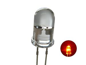 Flickering Leds 0 3/16in Orange Clear Flickering with Control 10 Piece S711