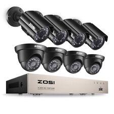 ZOSI HD 8CH 720P DVR 1500TVL Outdoor Day Night IR CCTV Security Cameras System