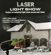 Christmas Laser Light Show 3 Colour Modes, Auto Timer, 6 Metres Cable Length