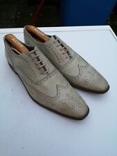PAUL SMITH Mens 100% Leather, Pale Green Lace-up Brogues UK 8 (42)