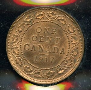1917 Canada One Cent - ICCS MS-63, Red - XDW 563