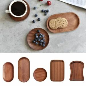 Tableware Solid Wood Round Dessert Plate Japanese-style Wooden Tray Snack Plate