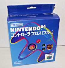 Genuine Boxed Blue Nintendo 64 N64 Controller Japanese