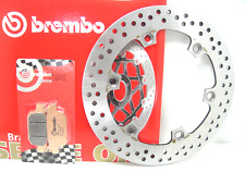 68B407A6+07064XS DISCO FRENO BREMBO POSTERIORE + PASTIGLIE HONDA SH 300 2007