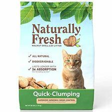 Naturally Fresh Cat Litter - Walnut-Based Quick-Clumping Kitty Litter, Unscented