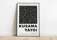 Yayoi Kusama Exhibition Poster | Yayoi Kusama Print | Modern Art | Wall Decor