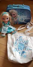 Disney Frozen Animator Talking Doll Snow Queen Elsa Canvas Bag Case Set