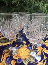 Le Cadeaux Fleur Clear Unbreakable Polycarb Wine Glass Set of 4