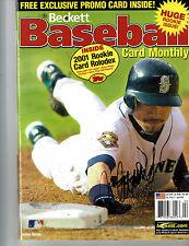 ICHIRO SUZUKI AUTOGRAPHED MAGAZINE FEBRUARY 2002 BECKETT BASEBALL