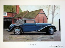 MG  S A Tickford. Vintage Car Print. MG Print.