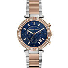 NEW MICHAEL KORS MK6141 LADIES TWO TONE PARKER WATCH - 2 YEAR WARRANTY