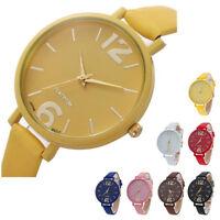 Fashion Women Leather Wrist Watch Stainless Steel Watch Lady Analog Quartz Gift
