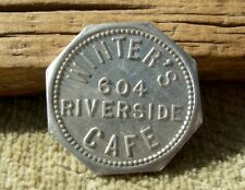 old NEWPORT KENTUCKY KY (OHIO LICKING RIVER, CAMPBELL CO) WINTERS. CAFE TOKEN