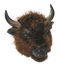 Buffalo Mask With Fur Cow Bull Animal Party Play Fancy Dress Accessory