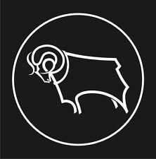 Football Club Ram Circle (Derby Cnt Ram) Sticker Decal Graphic Vinyl Label White